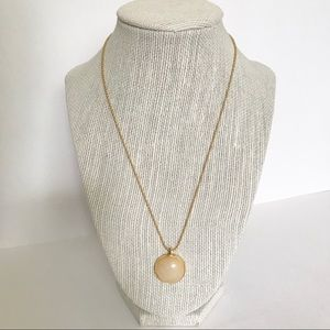 Gold-tone Bead Link Necklace
